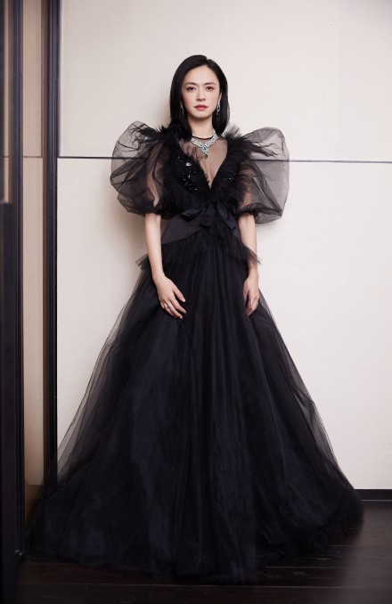 名门泽佳:被姚晨的红毯造型惊艳了!一袭暗黑女王裙效果优雅性感