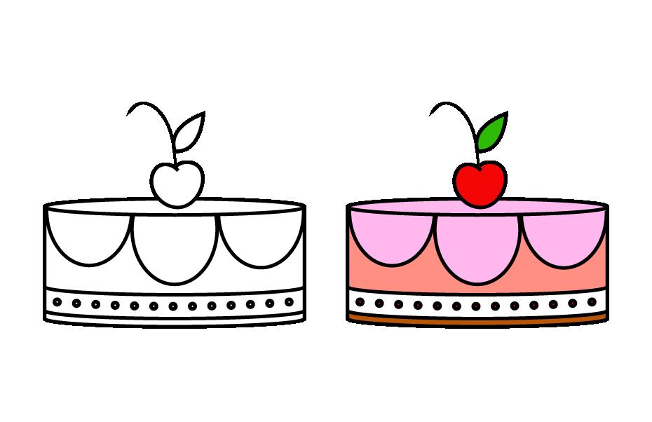 如何画简笔画生日蛋糕