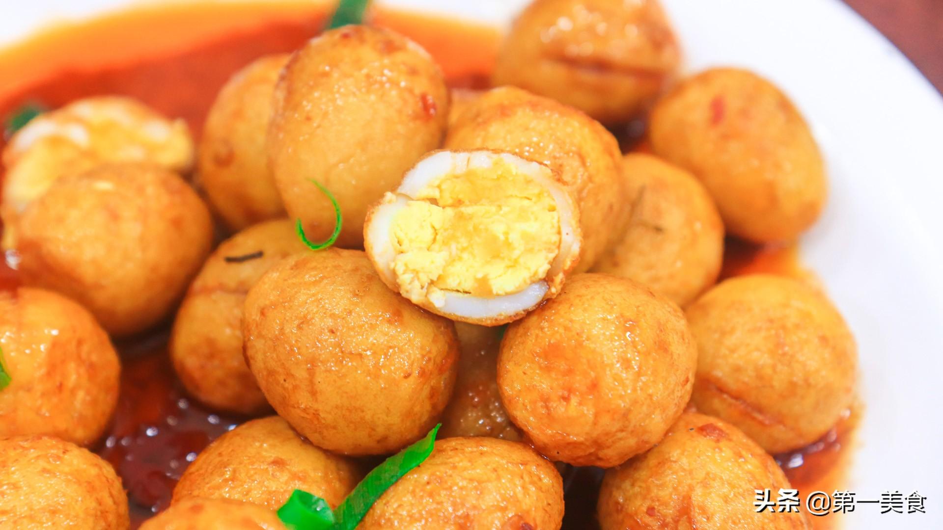 【香辣鹌鹑蛋】做法步骤图 香辣过瘾 表皮焦酥味道美