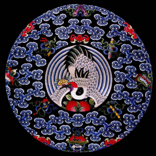 【绣美华章】中国清代团花刺绣纹样