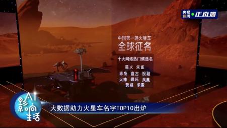 百度今发布火星车十大热搜候选名:星火、朱雀、赤兔、求索等入围