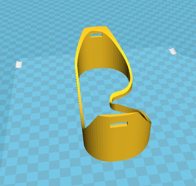 DIY简易护目镜框架结构3D打印图纸 STL格式