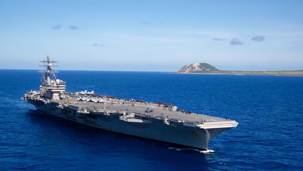 """美军""""里根""""号航母打击群进入南海活动,系2021年部署开启后首次"""
