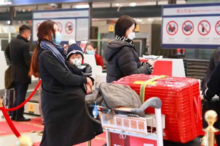 胡杏兒帶小兒子現身機場,奕霖被抱懷中乖巧可愛萌態十足