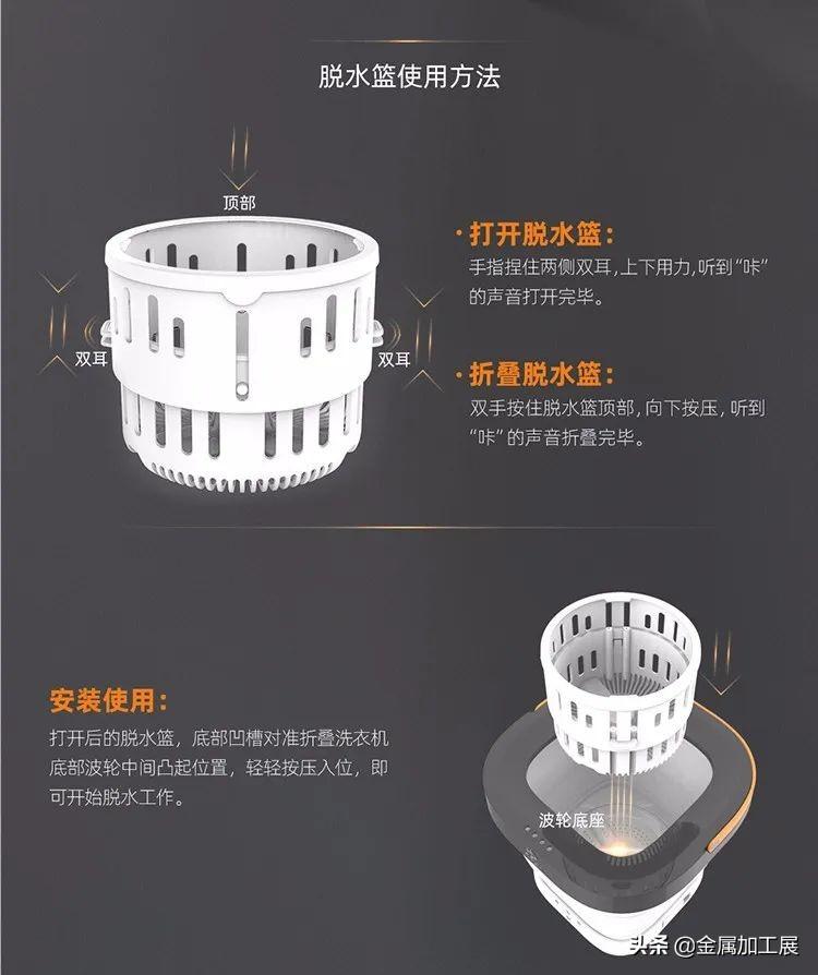 """中国""""新式洗衣机""""一出,洗衣更简单,能折叠洗衣机一键洗涤脱水"""