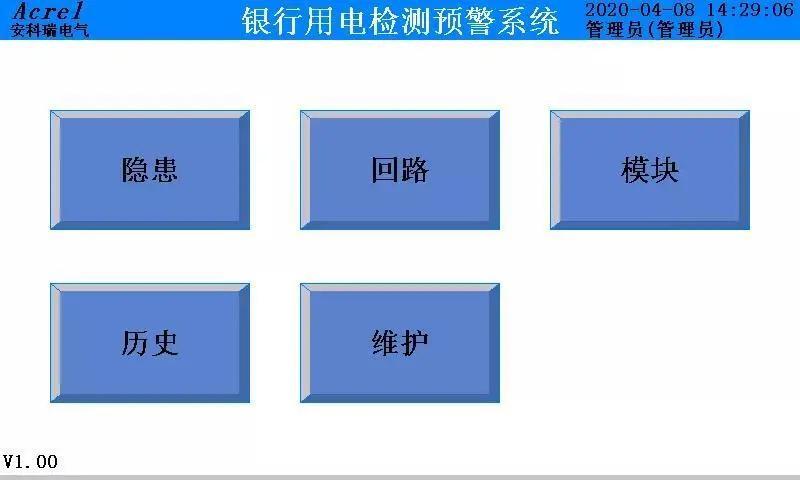 安科瑞银行安全用电检测预<span class=