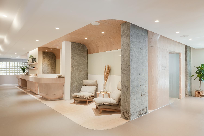Tru3 Yoga瑜伽工作室设计,简洁柔和的空间让你烦躁的心平静下来