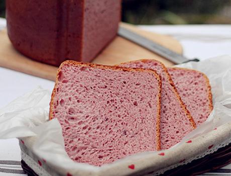 代餐甜品紫薯藜麦吐司的做法