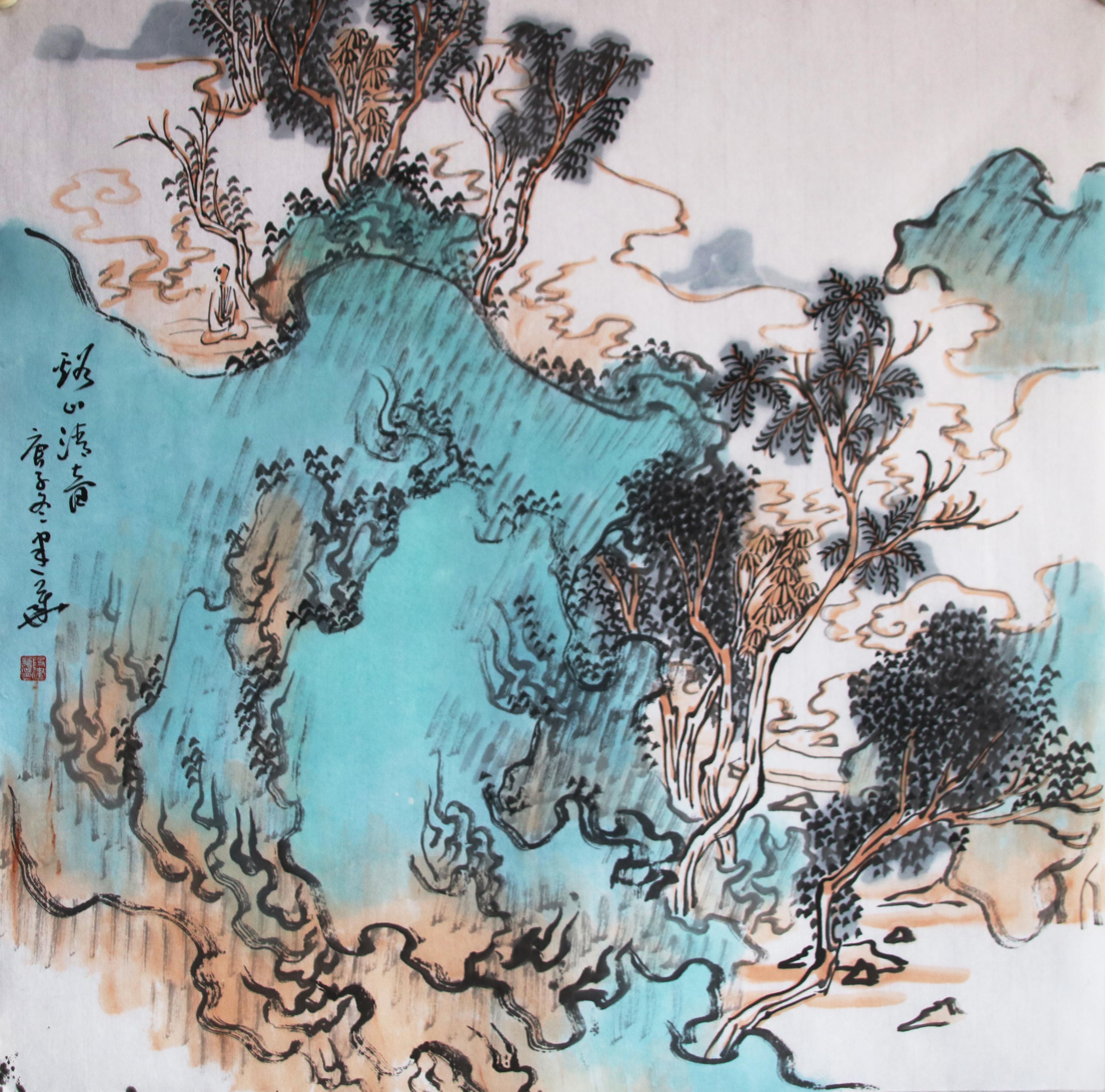 画家段建华老师2021山水作品