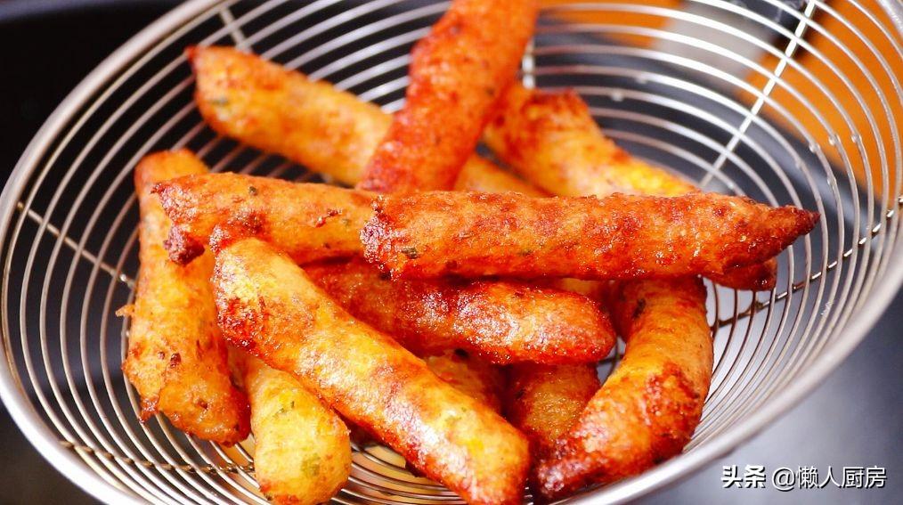 土豆不切条,捣成土豆泥,教你薯条的新做法,香酥可口更好吃