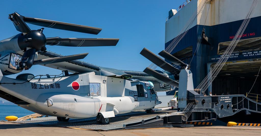 鱼鹰旋翼机速度快运力强,是美日联军夺岛利器,但遭日本民众驱赶