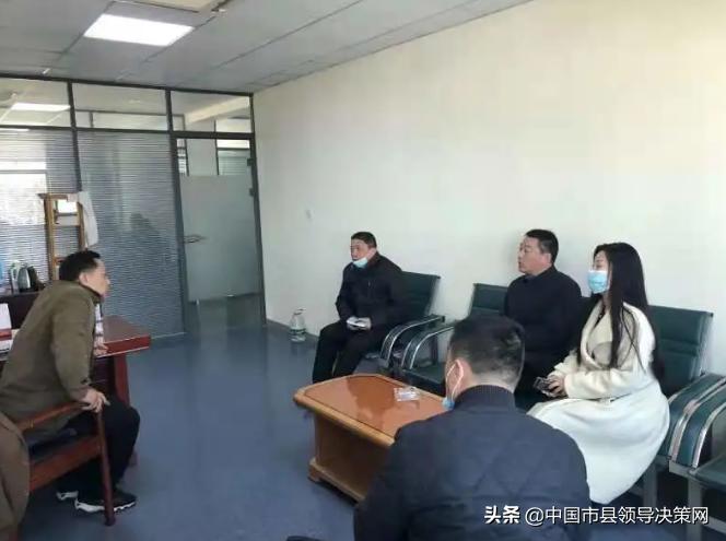 江苏建湖县教育局副局长陶天宏走访服务挂钩企业