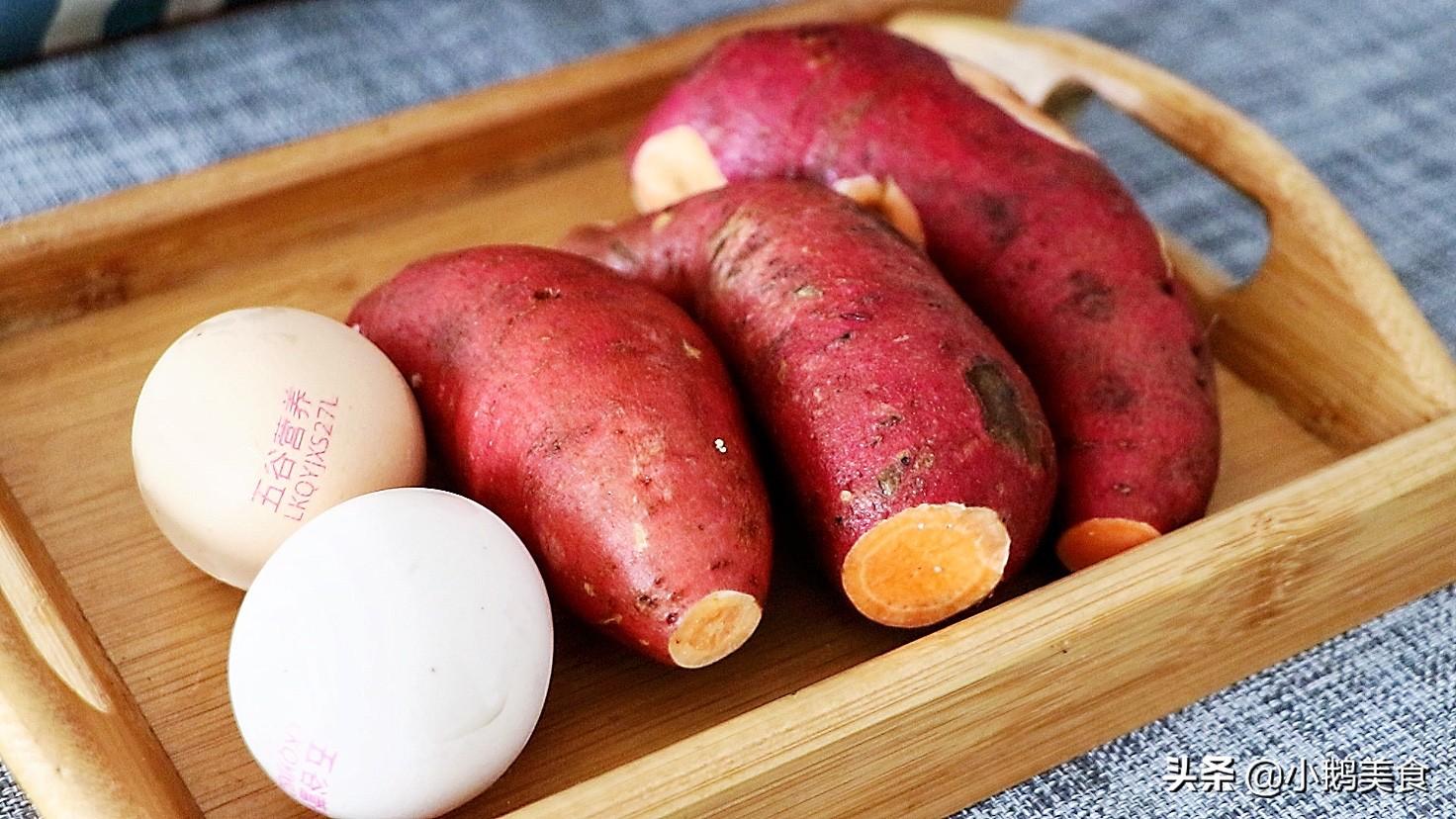 红薯别煮粥了,简单几步做小零食,香甜酥脆,孩子说比薯条还好吃 美食做法 第1张