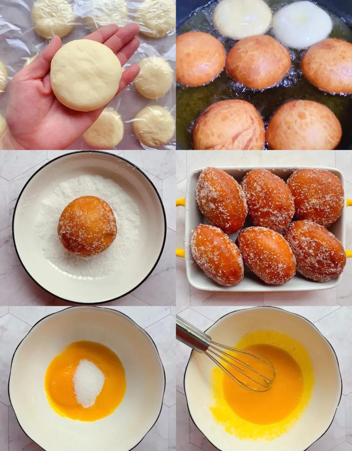 孩子们不撒手的流心甜甜圈,操作简单。 美食做法 第2张