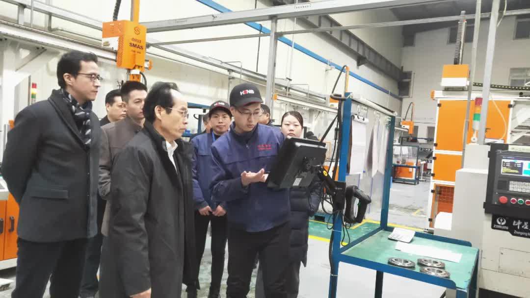 正大集团副总裁傅学军、市工信局总工程师黄亮莅临洛阳鸿元轴承