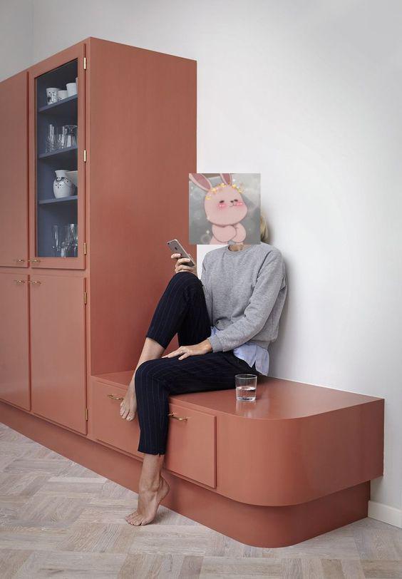 我咋想不到,餐边柜旁延伸个卡座,少买2把椅子少打1个柜子,真香