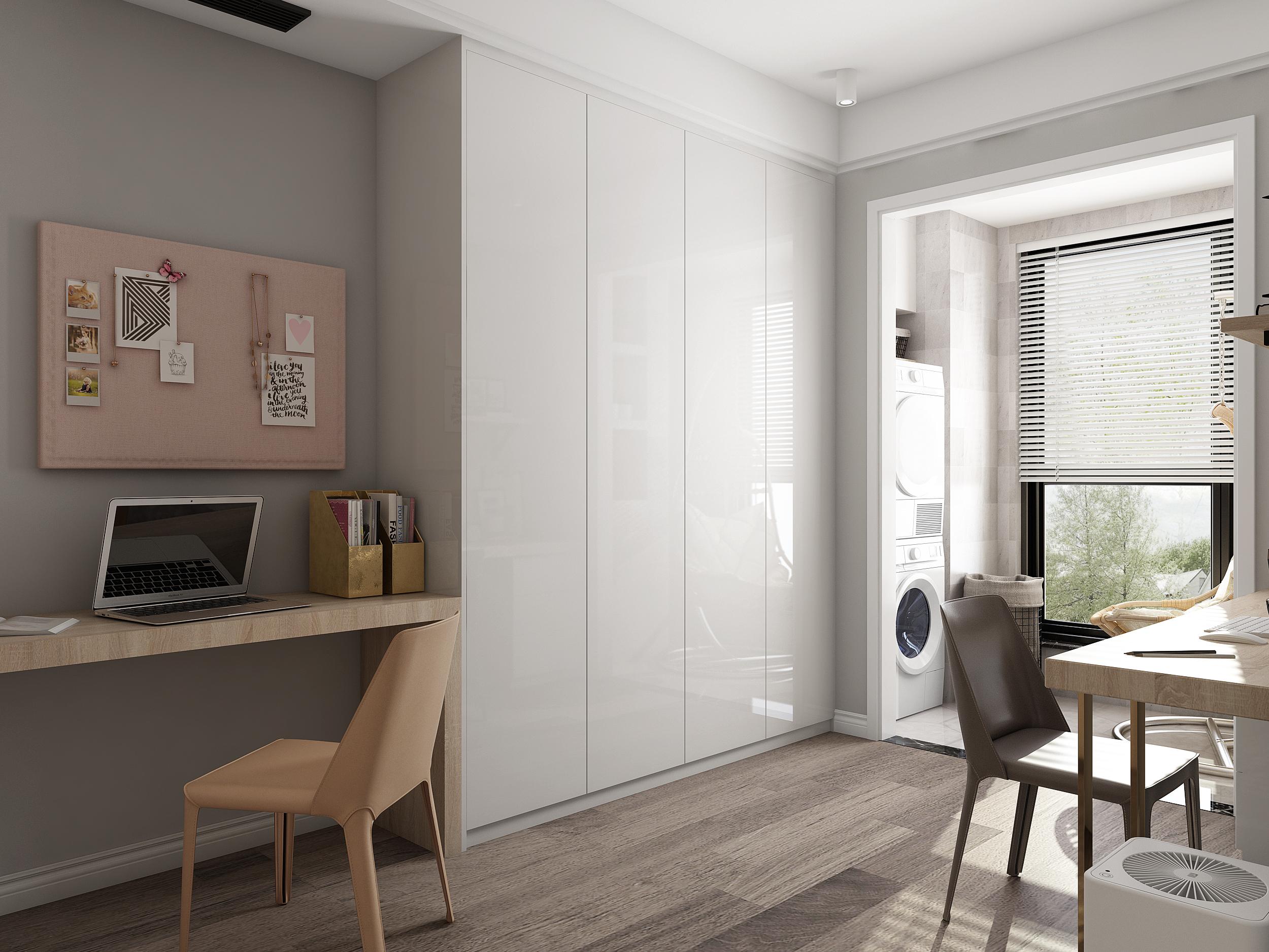 卧室改工作间客厅打造影音区,这个90㎡三居完美兼容工作和娱乐