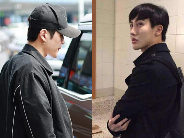 邓紫棋和男友罕见机场露面,男友侧脸精致,穿黑色外套戴耳环很酷