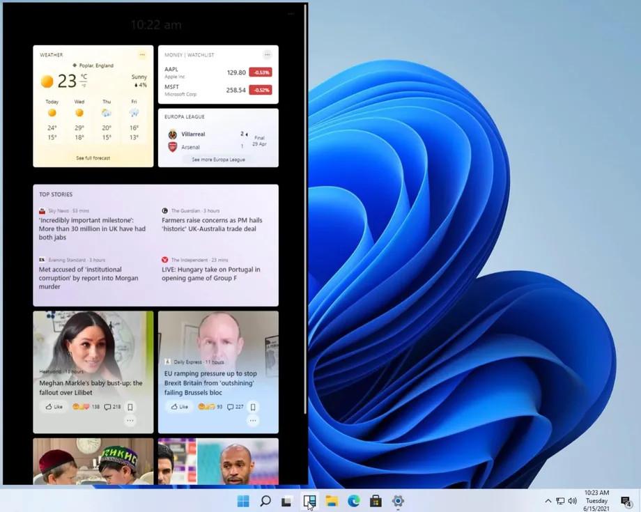 macOS dock 栏出现在了微软Win11上?系统截图泄露