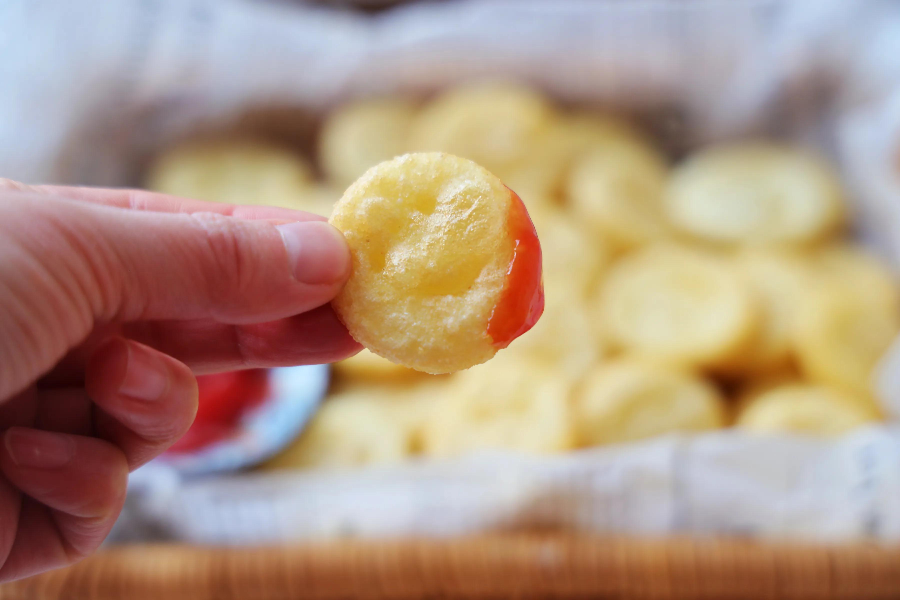 飯店的笑臉土豆,原來是這樣做的,特簡單,一口一個真好吃!
