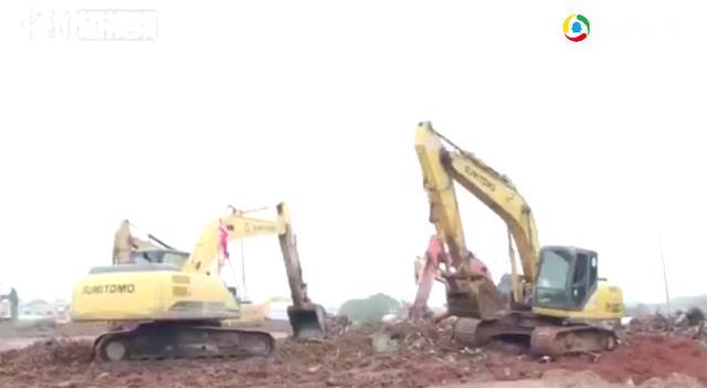 中国速度!航拍火神山医院施工3天大变化