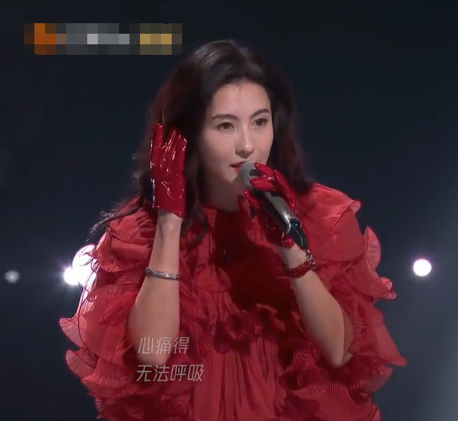回忆杀!张柏芝《浪姐2》唱星语心愿,红裙绝美声音沙哑唱哭吕一