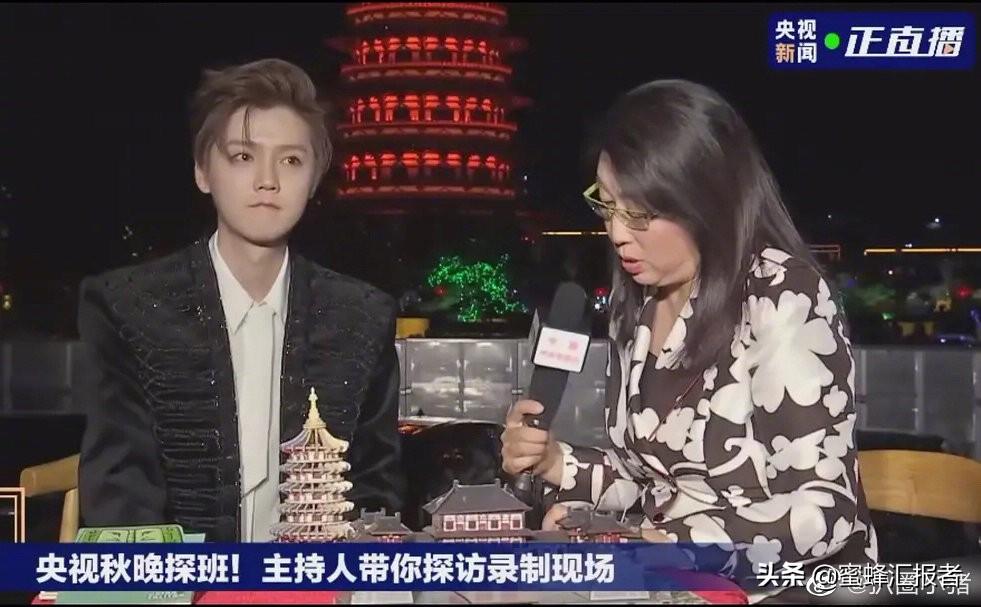 央视镜头下的鹿晗,王源我没有主持人证,魏晨专业的歌手不假唱