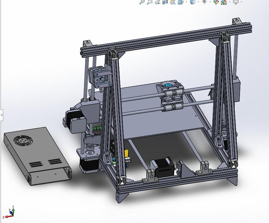prusa printer 3D打印机结构3D图纸 Solidworks设计 附STEP