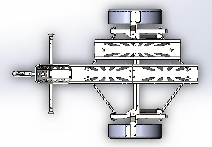 motorcycle trailer摩托车拖车3D图纸 x_t step格式
