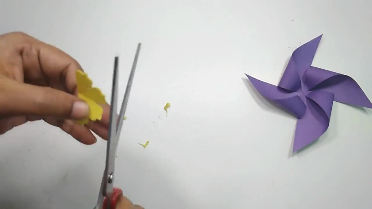 80后都玩过的纸艺风车,制作起来非常简单(图解)