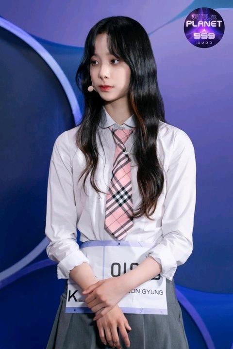 引起韩国热议的长得像aespa Winter的girlsplanet999兼前JYP练习生