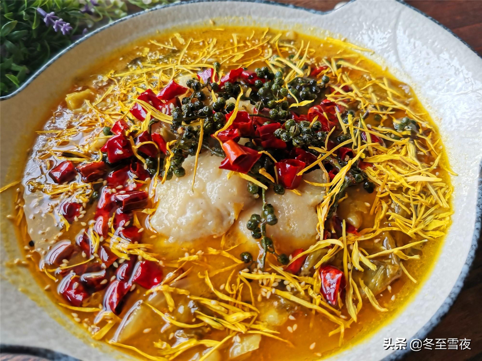 在家做金汤酸菜鱼 美食做法 第8张