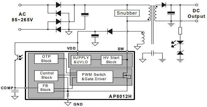 AP8012H可PIN to PIN ST Viper12A