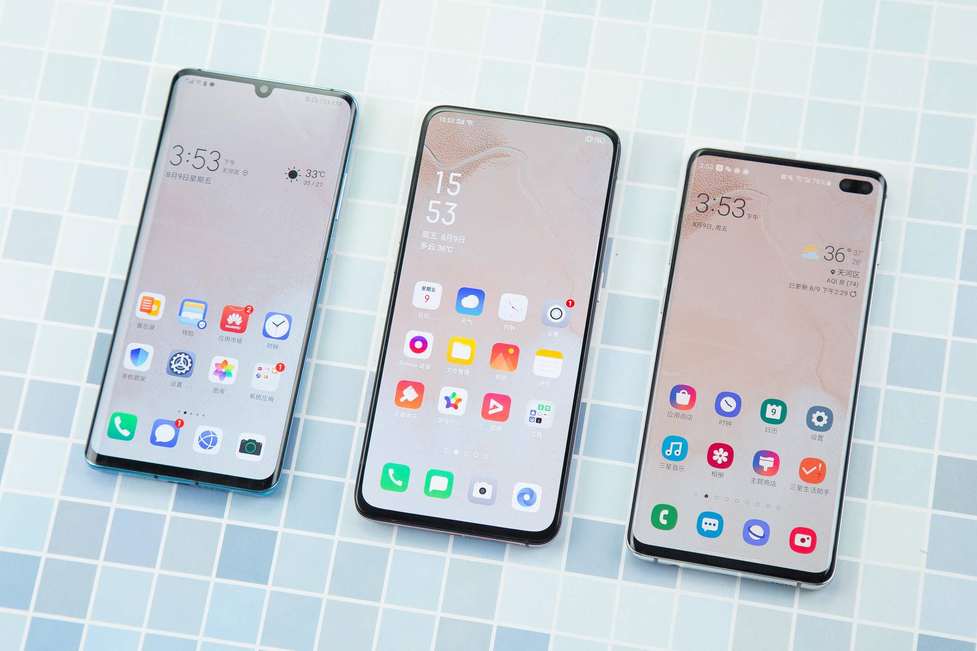 三大安卓系统旗舰手机显示屏比照,同是AMOLED屏,谁的综合性主要表现更强?
