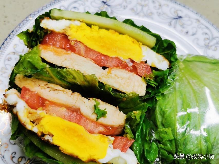 关晓彤同款蔬菜三明治,健康美味,做法简单还好吃,快来学吧