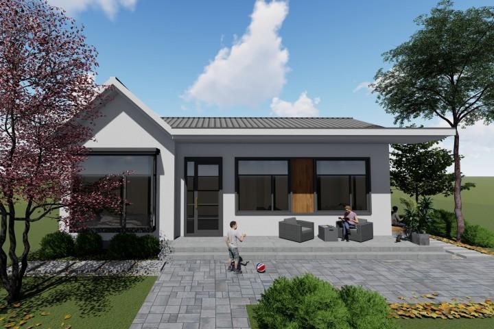 农村一层别墅设计图纸,有庭有院有品位,爸妈养老房的首选