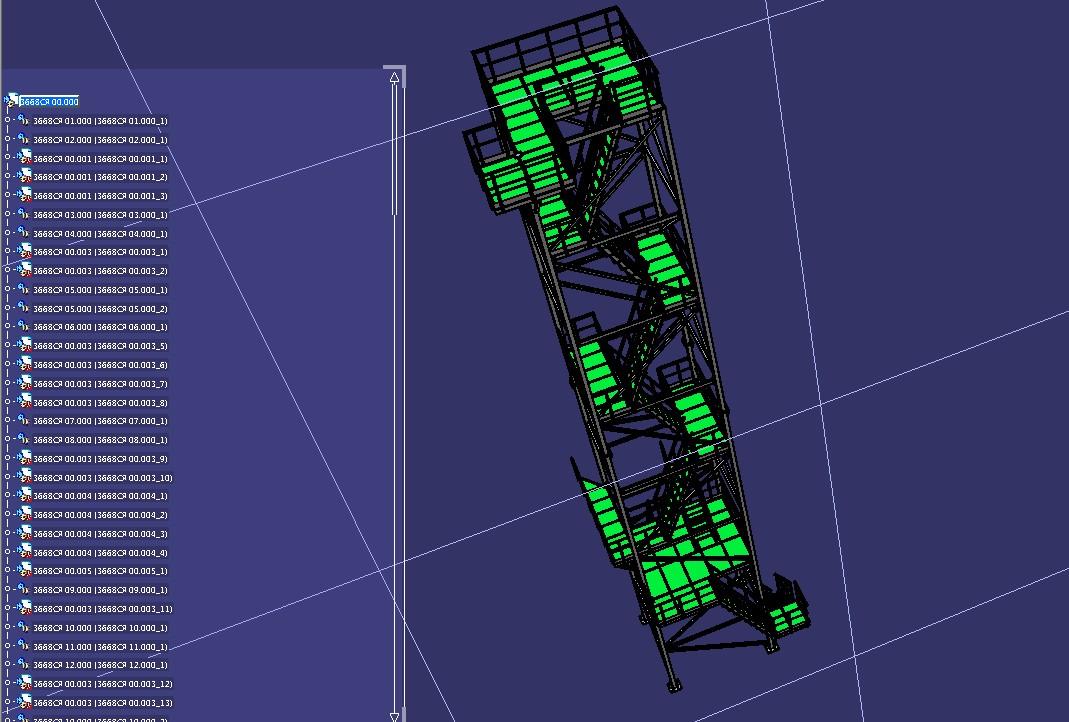 多层高空塔架3D数模图纸 STP格式