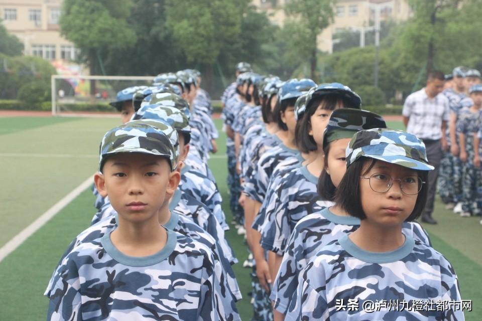 泸县梁才学校举行2021年秋期新生军训开训仪式
