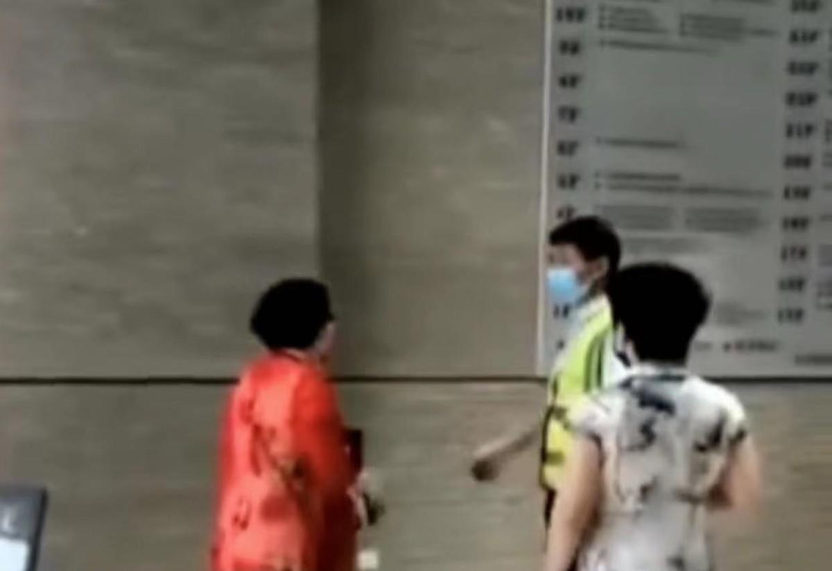河南一大妈进楼以麻烦为由拒绝扫码,多次殴打并掌掴工作人员