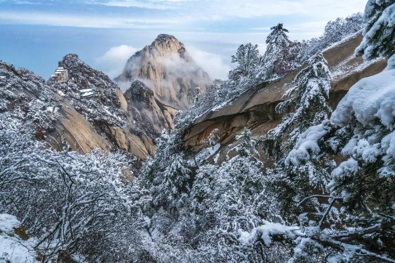 「大美华山」温暖相约,来华山赏雪