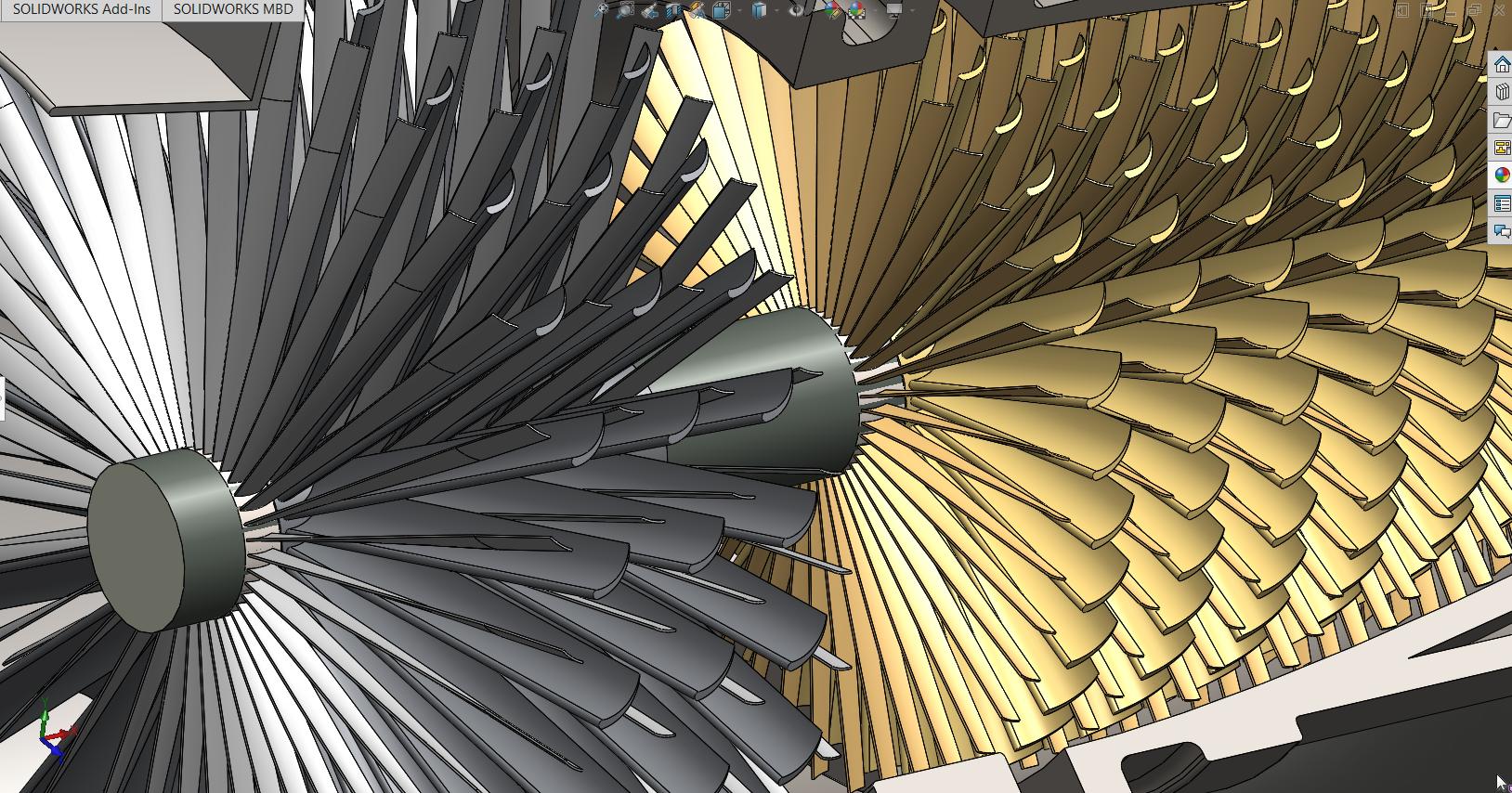 gas-turbine-sgt燃气轮机3D数模图纸