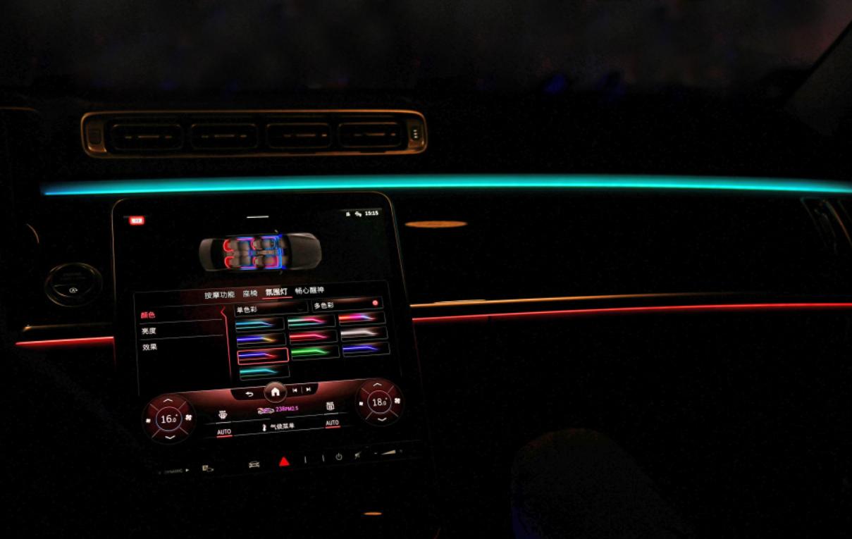 21款奔驰S400改装主动氛围灯,豪华达到了一个新的水平
