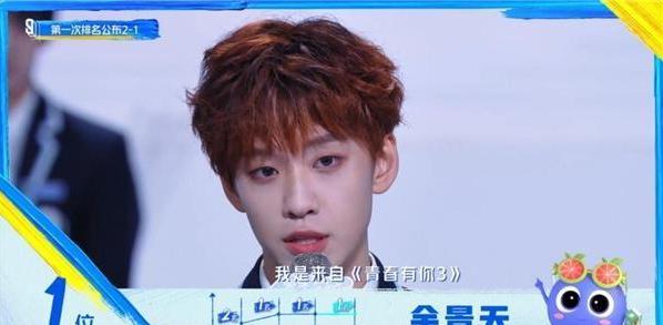 """《青你3》首次排名公布,第一名余景天誓要打破""""初C魔咒"""""""