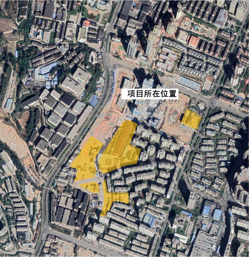 昆明右营村城改165亩地规划发布:高密住宅47亩 医院34亩