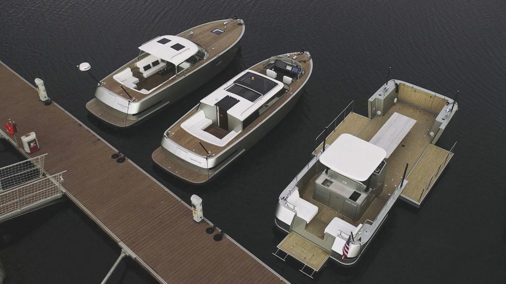 Reliant X40L多功能全铝40尺接驳船,可带上一辆路虎揽胜登岛