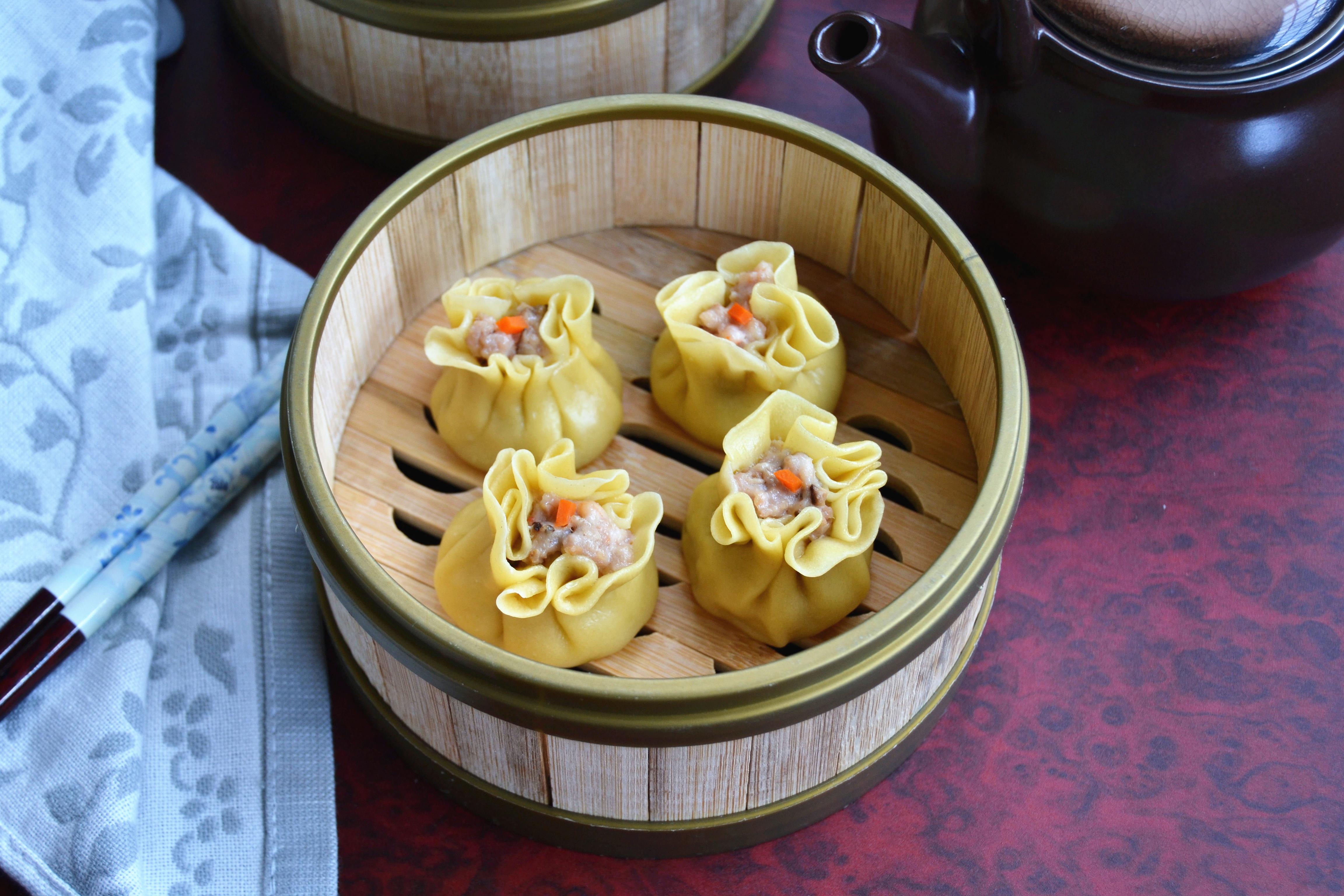 广东省点心美味小吃干蒸烧麦,超详细版,在家中也可以作出茶楼的口感