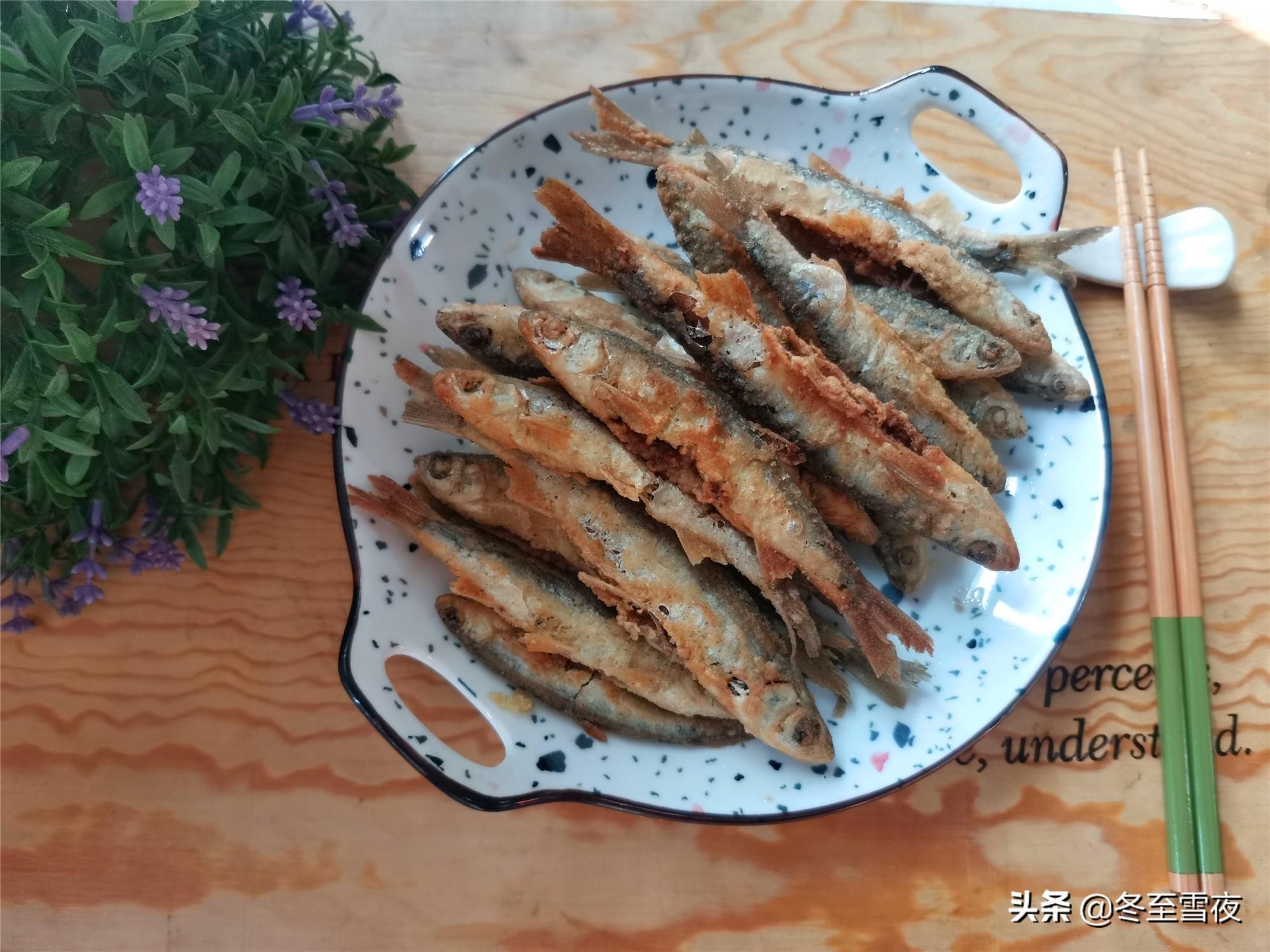 怎样把小河鱼炸得又香又酥,教你干炸的做法,金黄酥脆味道香 美食做法 第8张