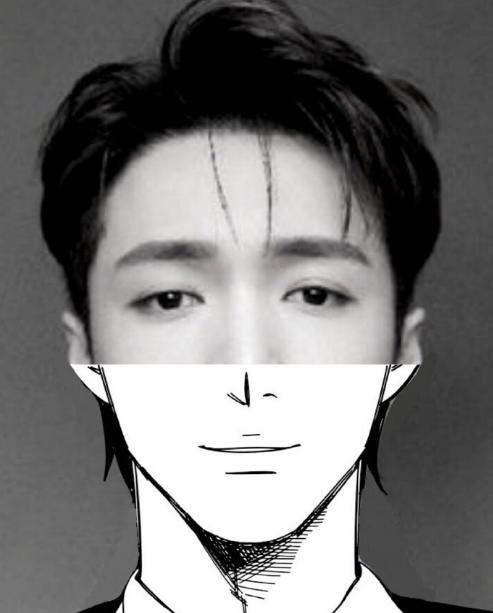 男星漫画脸适配程度大赏,来看真正的撕漫男,蔡徐坤最佳