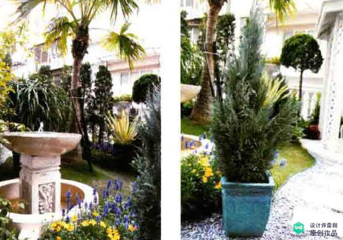 小面积庭院实景赏析!33平方米,有凉亭流泉的欧式花园!惊艳