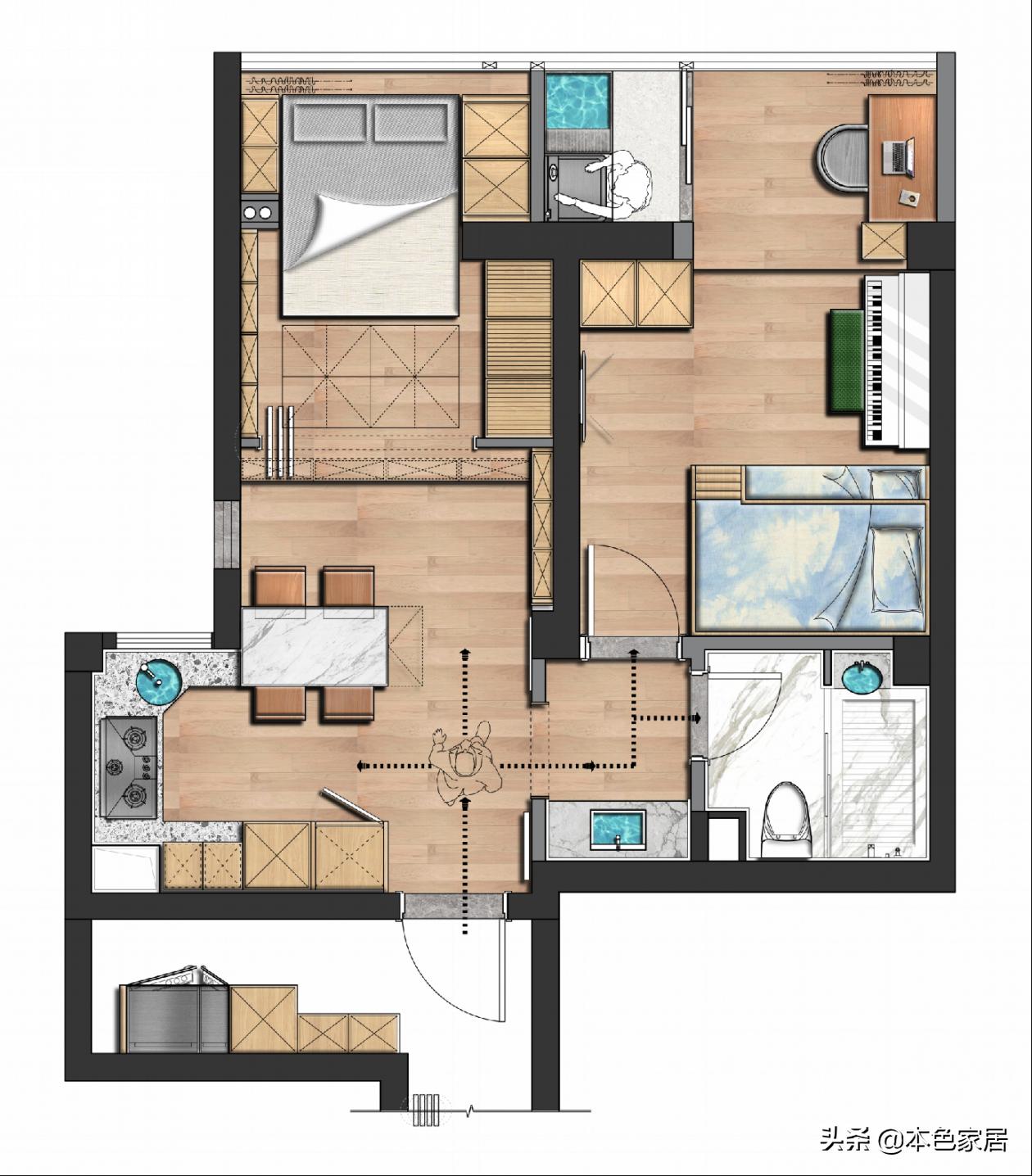 福州一家三口50㎡小宅,客厅变卧室,瞬间变成超赞阳光房,羡慕